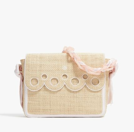 PAMELA MUNSON 2WAY Plain Straw Bags