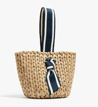 PAMELA MUNSON Straw Bags Stripes Plain Straw Bags 4