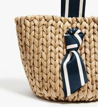 PAMELA MUNSON Straw Bags Stripes Plain Straw Bags 7