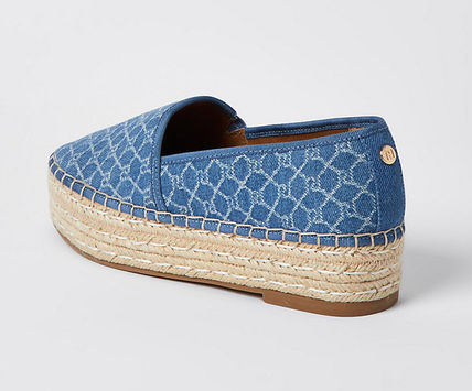 River Island Platform Casual Style Logo Espadrille Shoes