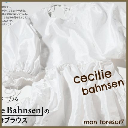 CECILIE BAHNSEN Shirts & Blouses Elegant Style Puff Sleeves Shirts & Blouses 2