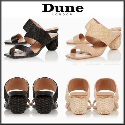 Mules Formal Style  Casual Style Plain Block Heels