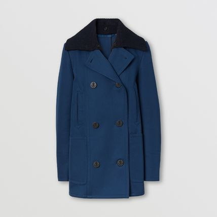 Burberry Bi-color Plain Medium Peacoats