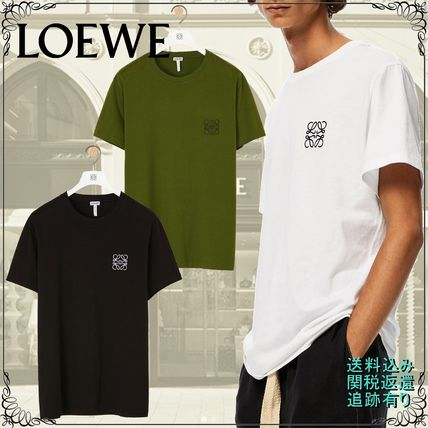 LOEWE Crew Neck Anagram Embroidered T-Shirt In Cotton