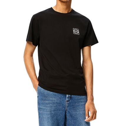 LOEWE Crew Neck Anagram Embroidered T-Shirt In Cotton 3
