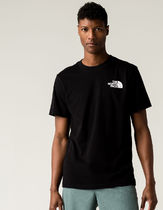 THE NORTH FACE Crew Neck Crew Neck Street Style Cotton Short Sleeves Logo Outdoor 10