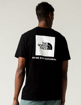 THE NORTH FACE Crew Neck Crew Neck Street Style Cotton Short Sleeves Logo Outdoor 11