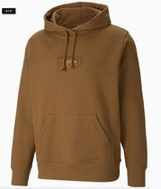 PUMA Pullovers Unisex Street Style Collaboration Long Sleeves
