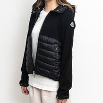 MONCLER Casual Style Wool Nylon Blended Fabrics Street Style