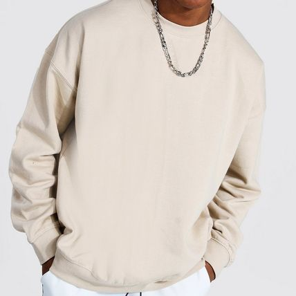boohoo Crew Neck Pullovers Street Style Long Sleeves Cotton
