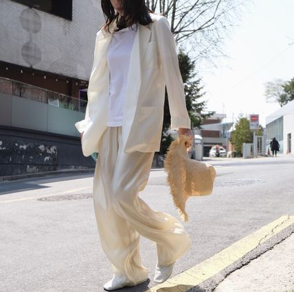 Casual Style Chiffon Street Style Cotton Long Party Style