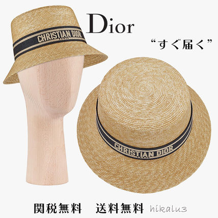 Christian Dior Straw Boaters Bucket Hats Straw Hats