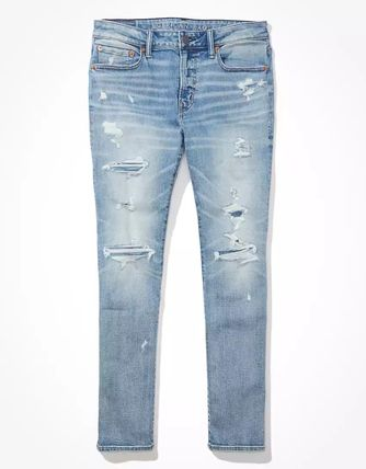 American Eagle Outfitters Denim Plain Street Style Jeans