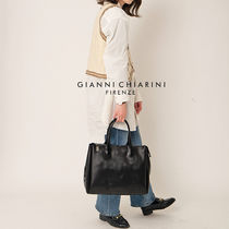 GIANNI CHIARINI Casual Style Plain Leather Party Style Office Style