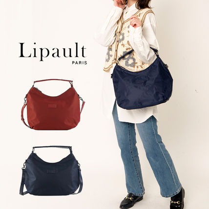 Lipault Casual Style Unisex Nylon Plain Party Style Office Style
