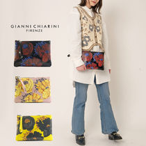GIANNI CHIARINI Flower Patterns Casual Style Unisex Leather Party Style
