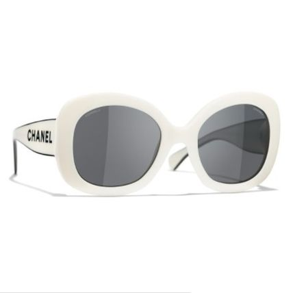 CHANEL Blended Fabrics Street Style Square Sunglasses
