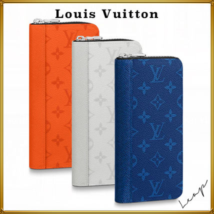 Louis Vuitton ZIPPY WALLET Unisex Street Style Logo Long Wallets
