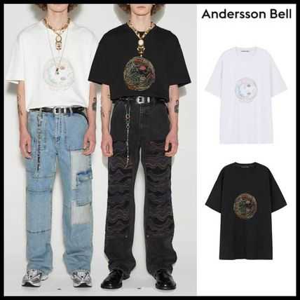 ANDERSSON BELL More T-Shirts Unisex Street Style Plain Cotton Short Sleeves Oversized