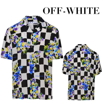 Off-White Shirts Other Plaid Patterns Flower Patterns Unisex Street Style