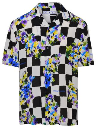 Off-White Shirts Other Plaid Patterns Flower Patterns Unisex Street Style 2