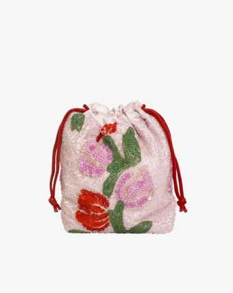 Flower Patterns Casual Style Party Style Purses