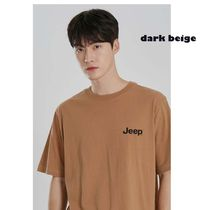 JEEP More T-Shirts Pullovers Unisex Studded Street Style U-Neck Plain Cotton 8