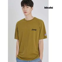 JEEP More T-Shirts Pullovers Unisex Studded Street Style U-Neck Plain Cotton 6