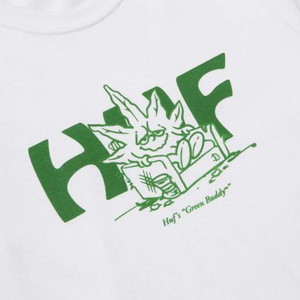 HUF More T-Shirts Street Style Short Sleeves Logo Skater Style Graphic Prints 2