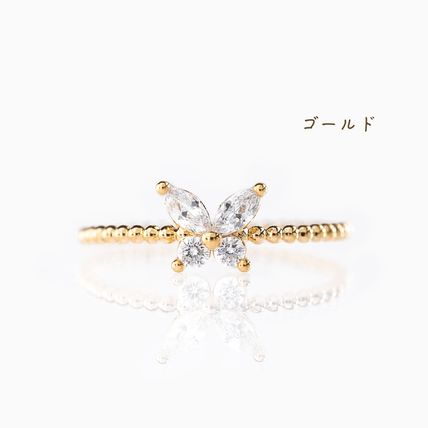 Casual Style Party Style Silver 18K Gold Elegant Style Rings