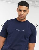 FRED PERRY Long Sleeve Crew Neck Long Sleeves Plain Cotton Long Sleeve T-shirt Logo 10