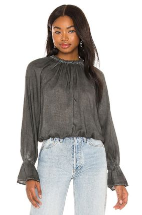bella dahl Short Casual Style Long Sleeves Plain Cropped