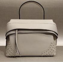 TOD'S Casual Style Blended Fabrics 2WAY 3WAY Plain Leather