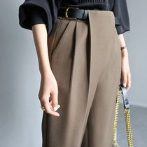 Casual Style Plain Medium Party Style Skinny Pants