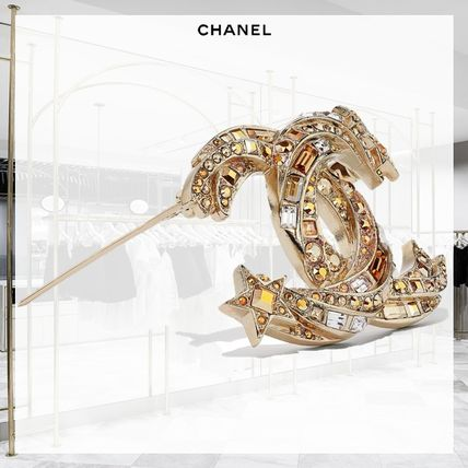 CHANEL Star Casual Style Blended Fabrics Party Style Elegant Style