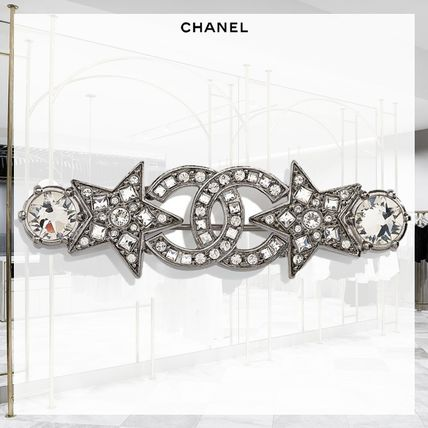 CHANEL Star Casual Style Blended Fabrics Party Style Office Style