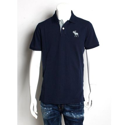 Abercrombie & Fitch Polos Cotton Short Sleeves Surf Style Polos