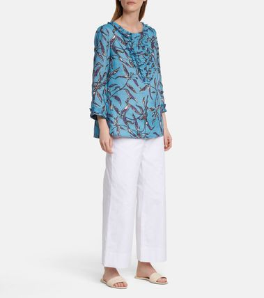 S Max Mara Flower Patterns Long Sleeves Medium Tunics