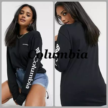 Columbia T-Shirts Street Style Long Sleeves Plain Long Sleeve T-shirt T-Shirts