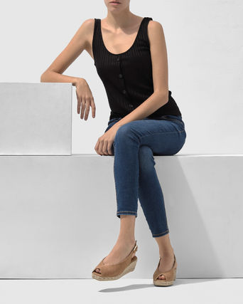 Open Toe Casual Style Plain Platform & Wedge Sandals