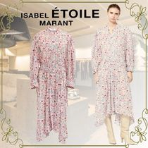 ISABEL MARANT ETOILE Flower Patterns Casual Style Long Sleeves Cotton Long