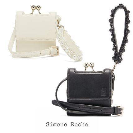 SIMONE PERELE Shoulder Bags Casual Style Street Style Plain Leather Party Style