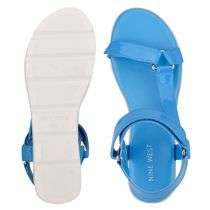 Nine West More Sandals Rubber Sole Casual Style Studded Street Style Leather 5