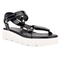 Nine West More Sandals Rubber Sole Casual Style Studded Street Style Leather 12