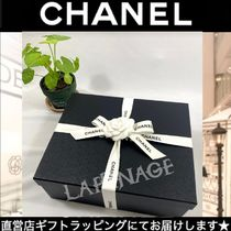 CHANEL Round Toe Casual Style Blended Fabrics Leather Party Style