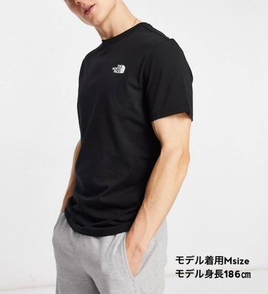 THE NORTH FACE Crew Neck Crew Neck Street Style Cotton Short Sleeves Logo Outdoor 2