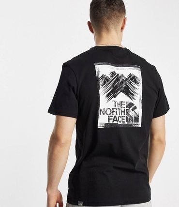 THE NORTH FACE Crew Neck Crew Neck Street Style Cotton Short Sleeves Logo Outdoor 3
