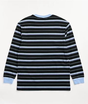 Odd Future Long Sleeve Crew Neck Pullovers Stripes Long Sleeves Cotton 3