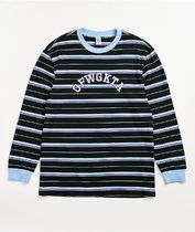 Odd Future Crew Neck Pullovers Stripes Long Sleeves Cotton