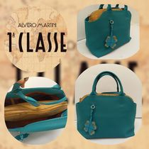 PRIMA CLASSE Casual Style Blended Fabrics 2WAY Office Style Crossbody